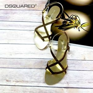 New Dsquared2 Suede Gladiator Sandals US 10